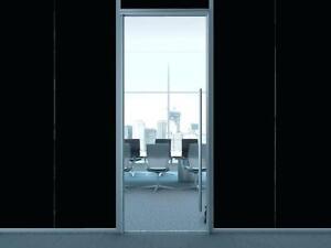 "1ft x 60"" Opaque Matte Blackout Vinyl Window Film Tint Professional adhesive!!"