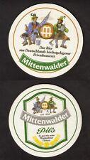 BD - Bierdeckel - Coaster , Mittenwalder Privatbrauerei , Pils ,  Bayern
