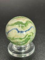 """Vintage Handmade Lined Crockery Marble German Handmade Crockery Marble 0.709"""""""