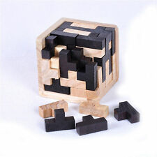 3D Russia Ming Luban Interlocking Wooden Puzzle IQ Brain Teaser Burr Puzzles HE