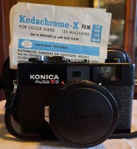 Konica Auto S 3 Black Rangefinder 35mm Film Camera W 38mm F1.8 Lens