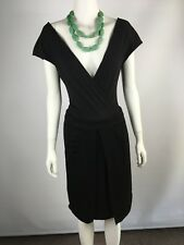 VERONIKA MAINE size 6 linen lined black work skirt