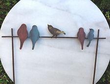 Miniature Dollhouse FAIRY GARDEN ~ Mini Rustic Birds on a Wire Pick ~ NEW