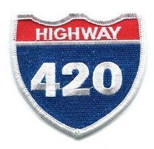 HIGHWAY 4:20 - EMBROIDERED IRON-ON PATCH Free Shipping 420 hemp weed stoner punk