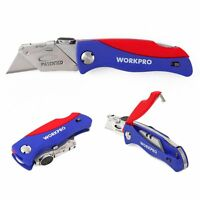 WORKPRO Folding Utility Pocket Knife Quick-change Blade, ABS Handle with 5 Extra