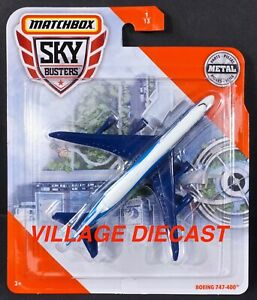 2020 Matchbox Sky Busters® #1 Boeing® 747-400™ WHITE / BLUE / MOC