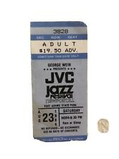 Jvc / Newport Jazz Festival Ticket August 1986