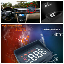 LED Headup Digital Display Driving Onboard Computer Monitor Speed Projector OBD2