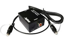 RCA Analog to Optical Coaxial Toslink Digital Audio Converter with Optic Cable