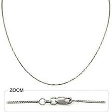 "4.00 gm 14k Solid White Gold Women's Men's Box Chain Necklace 24"" 1.00 mm Polish"