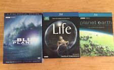 The Blue Planet: Seas of Life/Life Blu-Ray/Planet Earth Blu-Ray 13 Discs DVD Lot
