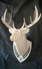Trofeo cervo testa legno arredo design decorazione casa negozio - Art déco