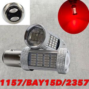 Brake Stop Light 1157 2057 2357 2397 3496 7528 92 BAY15D Red LED Bulb W1 E