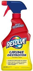 Resolve Urine Destroyer Spray Stain & Odor Remover 32oz NEW