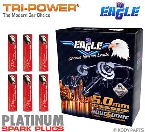 IGNITION LEADS & PLATINUM SPARK PLUGS -for Pajero NL NM NP 3.5L 6G74 24 Valve TP