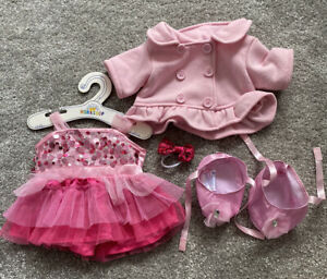 Build A Bear Pink Ballet Dress outfit, Ballet Shoes & Pink Coat & Bow