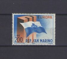 SAN MARINO, EUROPA CEPT 1963, CEPT SYMBOL and FLAG, MNH