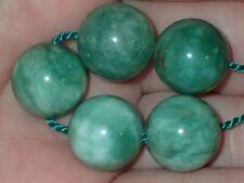 5 Rare Green Apple Indo - Tibetan, Tibet Jade beads, 14mm, #S2592