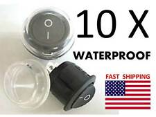 WATERPROOF Quantity 10 --- 2 wire SPST Hovercraft Dash Switch Part 12v DC