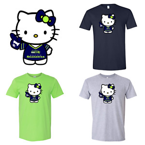 Seattle Seahawks Hello Kitty Audlt & Youth T-Shirt