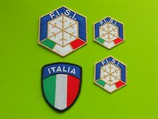 PATCH FISI ORO SCUDETTO  ITALIA PZ 4 RICAMATE TERMOADESIVE -REPLICA