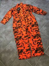 Browning Orange Blaze Camo Uninsulated Coveralls Hunting Size Large