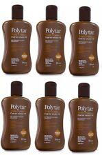 Polytar Scalp Shampoo Psoriasis Eczema Dandruff Itchiness Coal Tar 4%- 150ml X 6