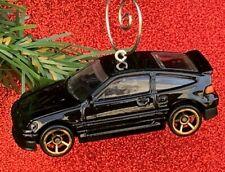 NEW 1988 Black Honda CRX Car Custom Christmas Tree Ornament