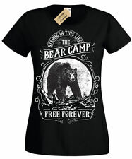 Bear Camp Free Forever Strong Camping T-Shirt Womens Ladies