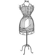 Vintage Designers Black Metal Scrollwork Wire Frame Dress Form Display Ra. New