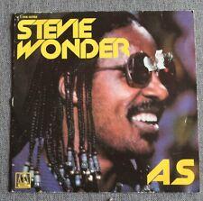 Stevie Wonder, as / contusion, SP - 45 tours