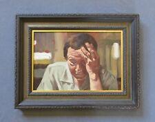 Vintage Social Realist Figurative Oil Portrait Painting