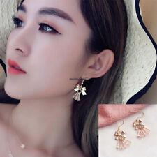 Fashion Korean Women Crystal Tassel Bow Drop Dangle Hook Party Earrings Jewelry