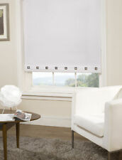 Square Eyelet Roller Blind Trimmable Window Blinds Polyester White 180cm x 180cm