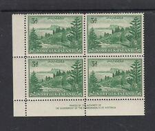 "NORFOLK ISLAND: 1959 3d Green/White SG 6a ""AUTHORITY IMPRINT BLOCK OF 4"", MUH."