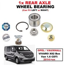 FOR OPEL VAUXHALL VIVARO X82 Bus Van 1.6 CDTi 2014-on 1x REAR AXLE WHEEL BEARING