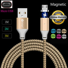 1/2/3M Magnetic Charger Cable Micro USB Data Sync For Android Mobile Phones Lot