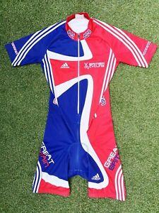 Adidas British Cycling Great Britain Team GB TT Track Road Aero Skinsuit Medium