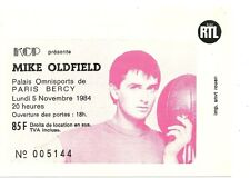 RARE / TICKET BILLET DE CONCERT - MIKE OLDFIELD : LIVE A PARIS ( FRANCE ) 1984