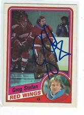 Greg Stefan Signed 1984/85 O-Pee-Chee Card #65