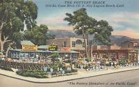Linen Postcard A260 The Pottery Shack U. S. 101 Laguna Beach California Sellers