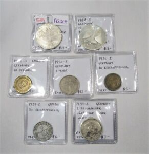 1909-1987 German Coin Lot Some Silver AG209