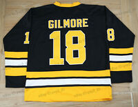 Happy Gilmore #18 Boston Movie Hockey Jersey Black Stitched