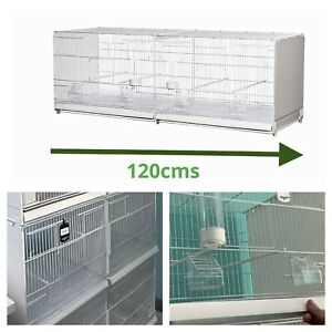 """120cm 47"""" Plastic Double Breeding Cages With Divider - Budgie, Canary, Finch"""