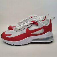 Men's Nike Air Max 270 React White Red Running Casual Shoes CW2625-100 Size 8