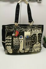 Laurel Burch OVERSIZED Cat Tote Shopper Beach Bag Extra Large NWT