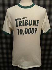 *Vtg* T-Shirt The Press Tribune 10,000? Medium Velva Sheen 50/50 Newspaper Cool!