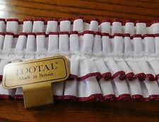 VINTAGE Tootal Shirt Ruffle Abito da sera da Uomo Bianco Volant Vintage 1970s in buonissima condizione