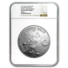 2015 Niue 1 kilo Silver $100 Disney Steamboat Willie PF-67 NGC