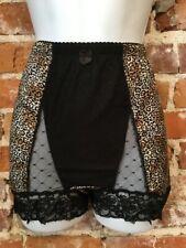 Rhonda Shear Leopard Mesh Dot Lace Pin-Up Retro Style High Waist Panties New